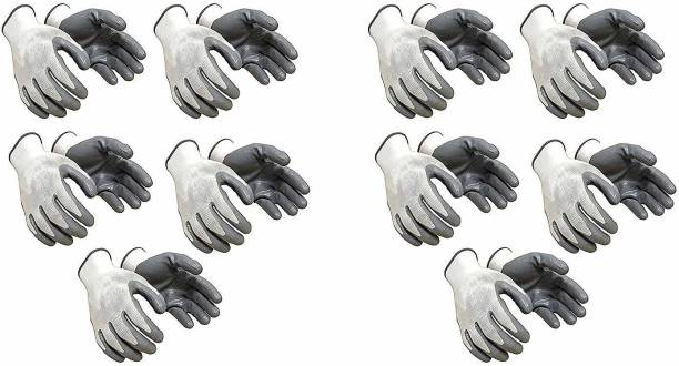 Yiking Anti Cut Hand Gloves pvc cotted 10 pair Nylon  Safety Gloves