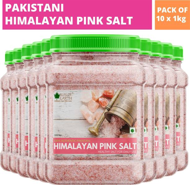 Bliss of Earth 10KG Authentic Himalayan Pink Salt for Healthy Cooking & Weight Loss Himalayan Pink Salt