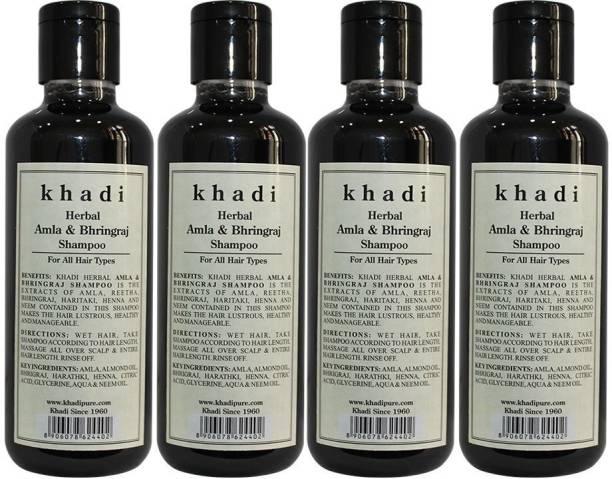 Khadi Herbal Amla & Bhringraj shampoo ( pack of 4)