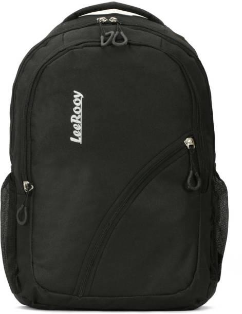 LeeRooy MN-LeeRooy Nylon 25 Ltr Black Messenger Bag & Backpack For Unisex Backpack