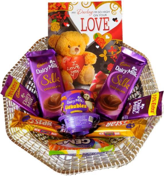 Cadbury Chocolate Gift Hamper with Beautiful Love Card Combo