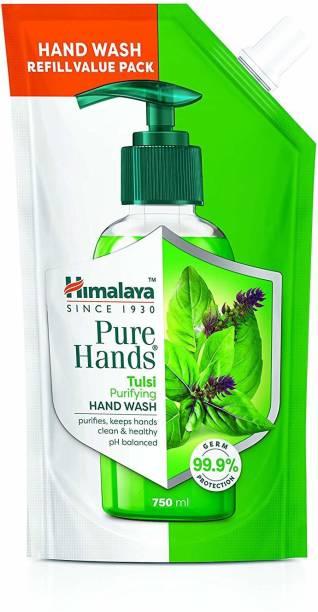 HIMALAYA Pure Hands Purifying Tulsi Hand Wash 750 ml Refill Hand Wash Pump + Refill