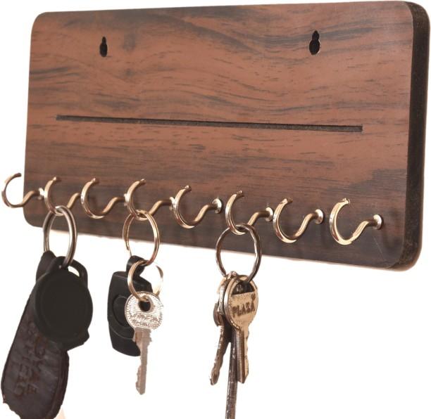 "Decorat Key Holder ""Keys"" Wall Mounted Western Key Holder4 Key Hooks"
