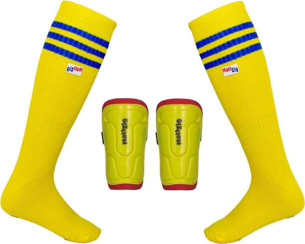 MATTZIG (One Pair Football Socks + One Pair Shin Guard) Football Kit