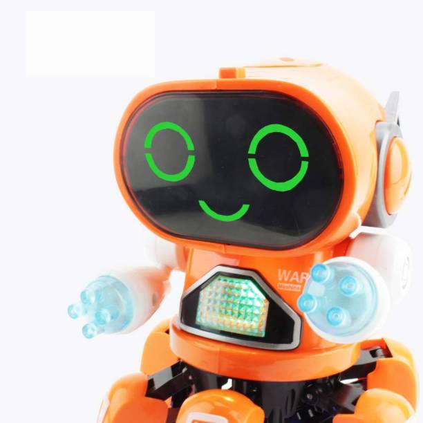 Toyvala Pioneer Dancing Robot in Bright Blue - Walking Dancing Electronic Robot Toy for Kids with Disco Flashing Lights and Dance Music