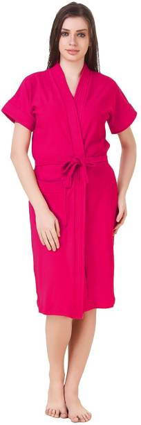 Bombshell new dark pink Free Size Bath Robe