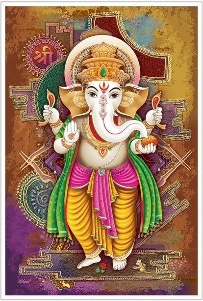 Lord Ganesha Religious God Paper Poster Paper Print