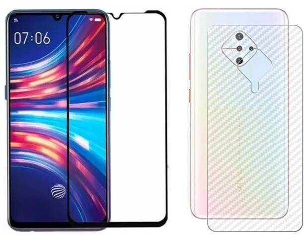 VaiMi Front and Back Tempered Glass for Vivo S1 Pro