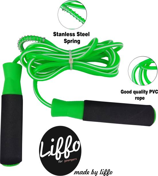 HOMMER skipping rope for men women weight loss workout green Ball Bearing Skipping Rope