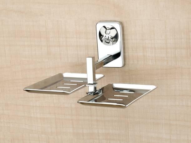Lion Lender Square Shape Double Soap Dish,Soap Stand,Soap case,Soap Holder Stand