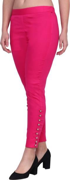POPWINGS Regular Fit Women Pink Trousers