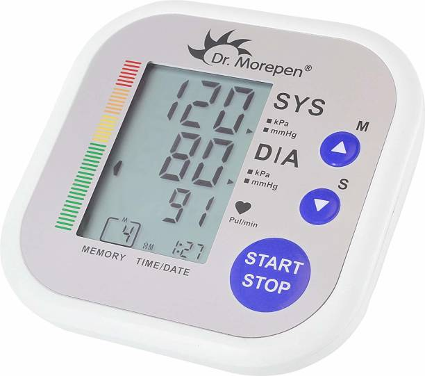 Dr. Morepen Bp02 Automatic Blood Pressure Monitor (White) Bp Monitor