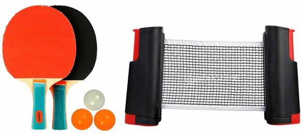 Klapp Table Tennis Set with Two Racquet Three Ball and One Adjustable Net Table Tennis Kit