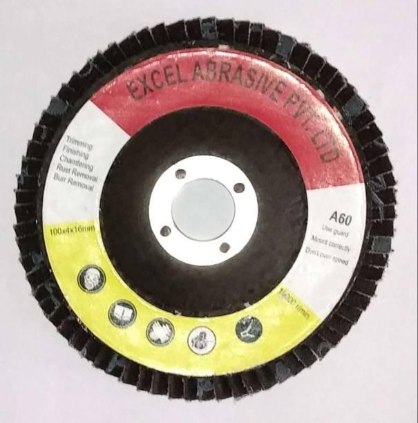 excel abrasive Sanding Flap Wheel Disc 4 inch (100 mm) For Grinding , Polishing , Finishing Grit A 60 Drill flap wheel EA_10243000 Metal Polisher