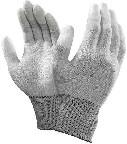 SS & WW ESD LATEX PALM COATED HAND GLOVES PACK OF 3 PAIR Latex  Safety Gloves