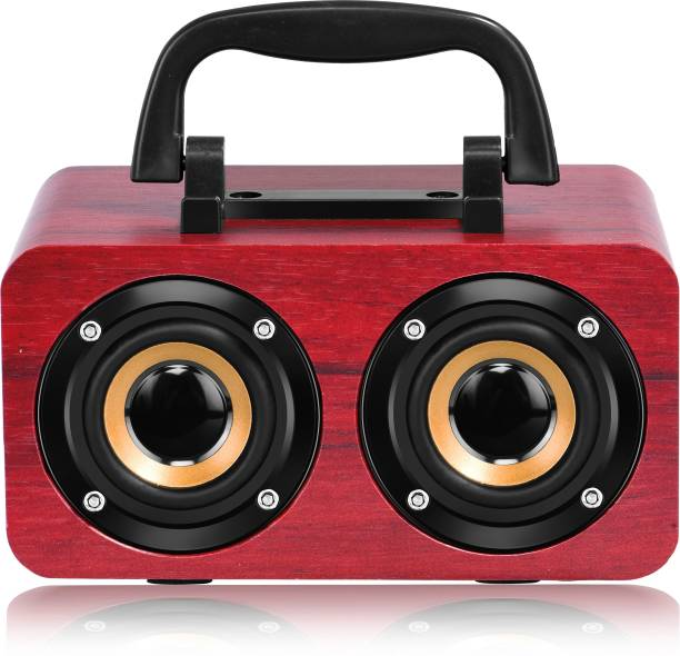 WALRUS Boombox Wireless Speaker With Upto 10-Hour Playing Time, Fm Radio, Built-In Mic, Handsfree Call, Aux Line, Usb Flash Drive, Micro Sd Card, Hd Stereo Sound And Bass 12 W Bluetooth Laptop/Desktop Speaker