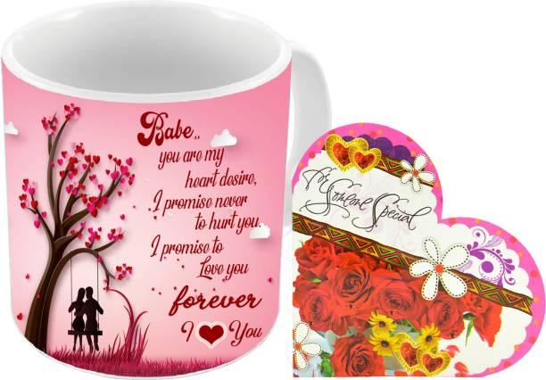 Flipkart SmartBuy Mug, Greeting Card Gift Set