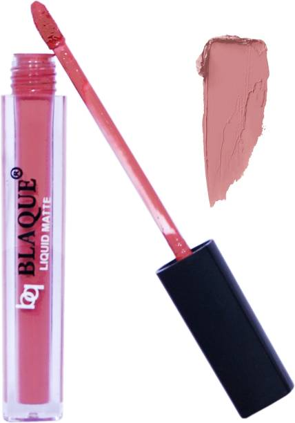 bq BLAQUE BQ116 Matte Liquid Lip Gloss Lipstick Long Lasting & Waterproof (4ml) - Light Nude Brown # 116 ,-01 Piece/Highly pigmented matte lip gloss lipsticks/Waterproof & Kiss Proof, Non Transfer formula/Cruelty Free, 100% Vegan, not tested on animals/Long Lasting Stay, 8-10 Hrs/Metal & LED Free material used - Light Nude Brown