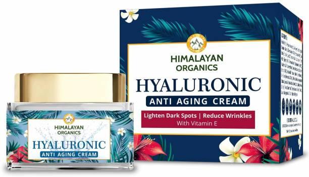 Himalayan Organics Hyaluronic Acid Anti Aging Cream for Under Eye Dark Circles, Anti Wrinkle, Skin Brightening - 50ml