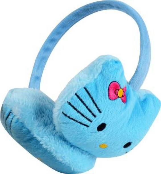 Bigbought Outdoor Accessory Foldable Ear Muffs/Warmer for Girls & Women for Protection from Cold, Ideal Head/Hair Accessory During Winters (Blue) Ear Muff