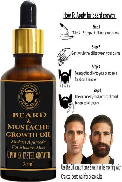 Daarimooch Beard & Mustache Growth Oil (20ml) Hair Oil