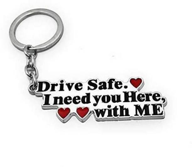 Raj Drive Safe Handsome Engraved Keychain Keyring for Husband Boyfriend Gift Key Chain
