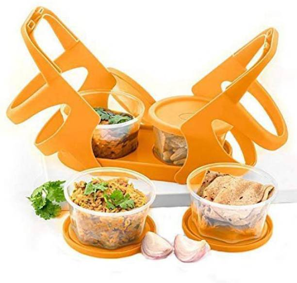 UKANI Plastic Lunch Box/Tiffin Box with Attractive Stand Food 4 Containers Lunch Box