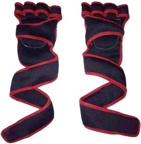 5 O' CLOCK SPORTS Gym Gloves With Wrist Support (Red) (Pack Of 1) Gym & Fitness Gloves Gym & Fitness Gloves
