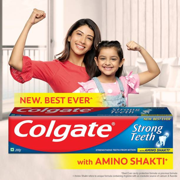 Colgate Strong Teeth with Amino Shakti (Saver Pack) Toothpaste
