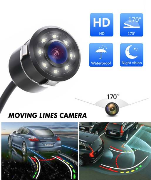 CARZEX Full HD Night Vision Moving Lines Parking Assistant Waterproof Rear View Reverse Parking Camera for All Cars Vehicle Camera System
