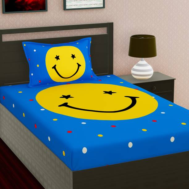 METRO LIVING 104 TC Cotton Single Cartoon Bedsheet