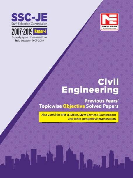 2020 Ssc Je Civil Engineering - Previous Year Objective Solved Papers