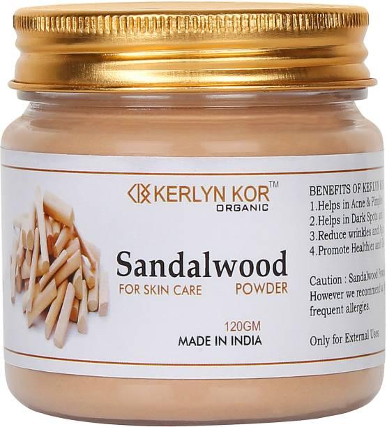 Kerlyn Kor Organic Sandalwood Powder for Face Pack - 120 gm