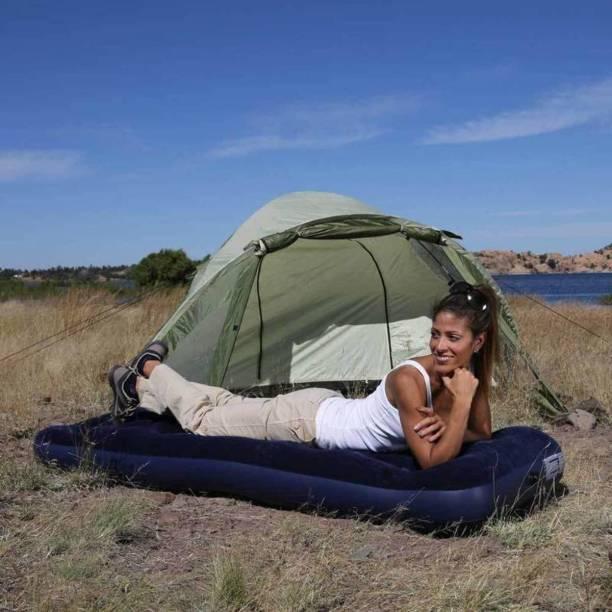 NHR Flocked Air Bed(Single) Velvet 1 Seater Inflatable Sofa