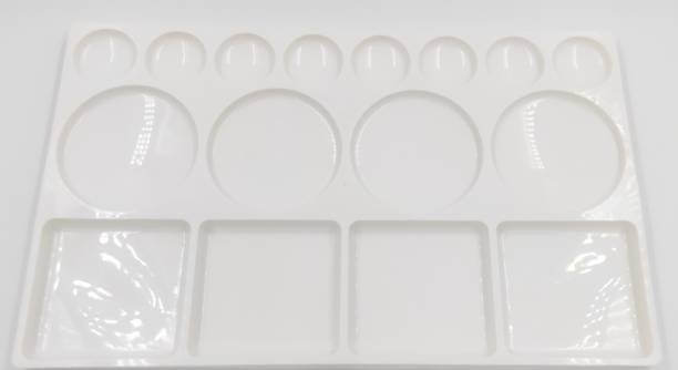 FRKB plastic 16 Paint Wells Palettes  with Lid