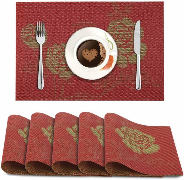 HOKiPO Rectangular Pack of 6 Table Placemat