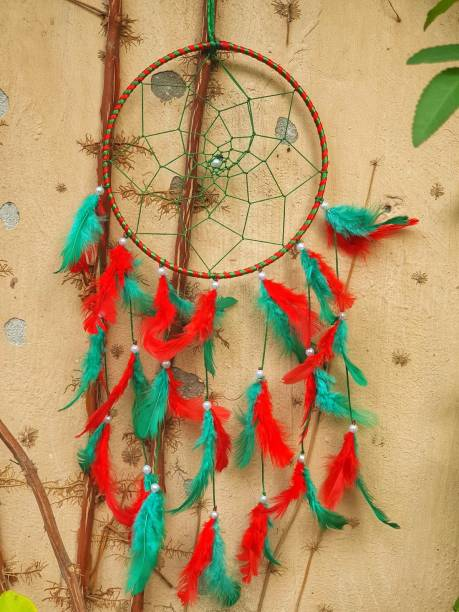 BS AMOR Dream catcher, wall hanging, home decor, Handmade Dream Catcher For Bed room,balcony,garden, Feathers iron windchime Feather Dream Catcher