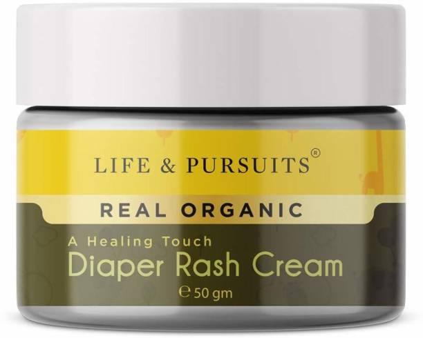 Life & Pursuits Certified Organic Ayurveda Baby Diaper Rash Cream with Zinc Oxide & Organic Calendula, 100% Natural - 50gm