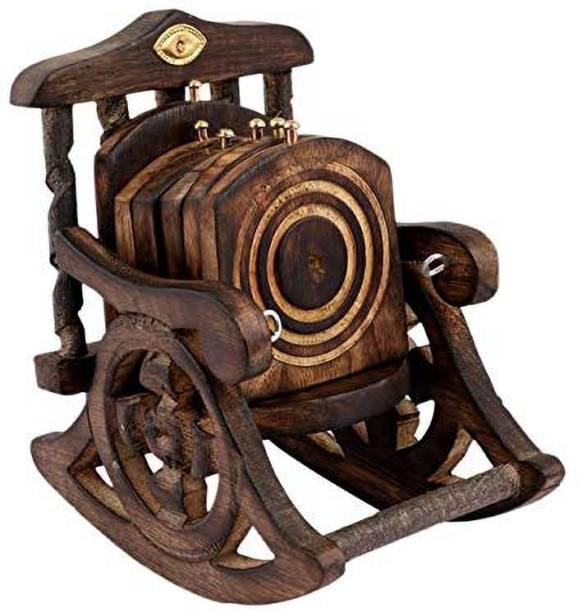 webbee craft Square Wood Coaster Set