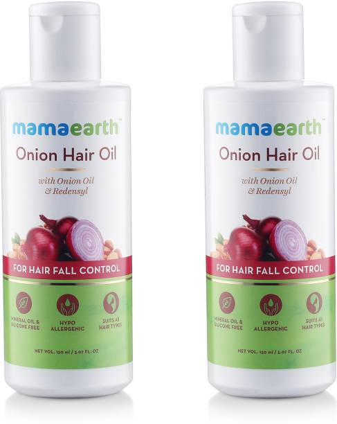 MamaEarth Onion Oil for Hair Regrowth & Hair Fall Control Pack of 2 Hair Oil