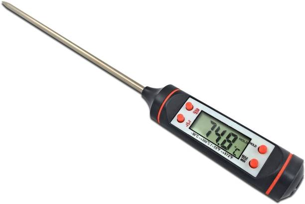 FosCadit Meat Thermometer, Cooking Thermometer with Instant Read, LCD Screen, Hold Function for Kitchen Food Smoker Grill BBQ Meat Candy Milk Water Thermometer with Fork Kitchen Thermometer