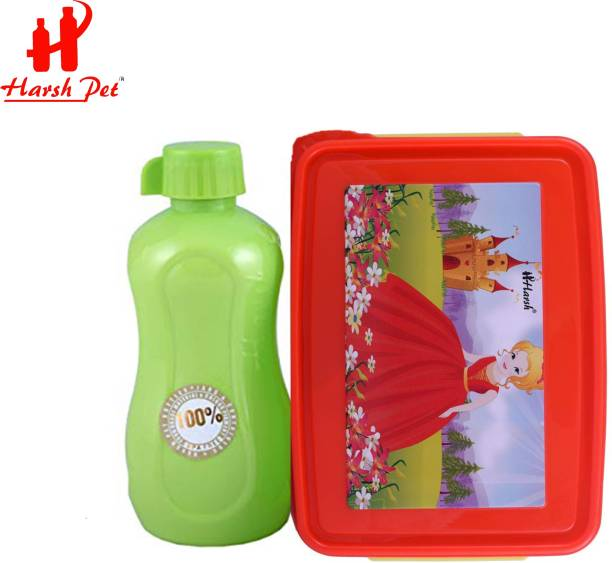Harshpet CinderellaWithGreenFun 1 Containers Lunch Box