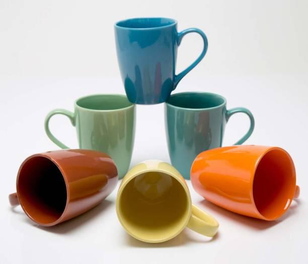 Onisha Pack of 6 Ceramic Pack Of 6 Milk MugsCup_Coloured, Festival