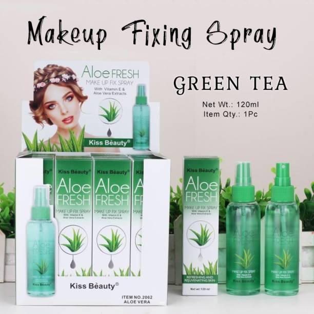 Kiss Beauty Aloe Fresh Make Up Fix Spray with Vitamin E 120ml with Adbeni Kajal Primer  - 120 ml