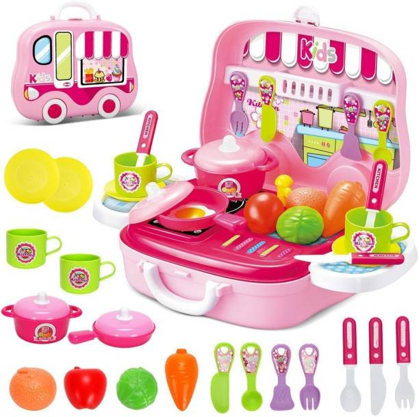 AR KIDS TOYS KITCHEN COOK SET FOR KIDS IN BRIEFCASE STYLE