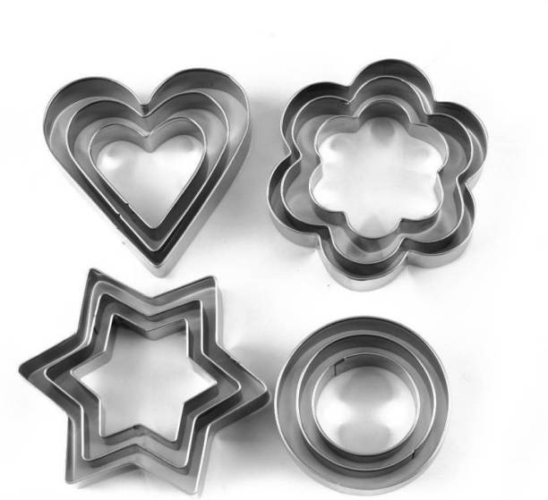 Hopeberry Round, Flower, Star Shape, Stainless Steal Heart, Cookie Cutter