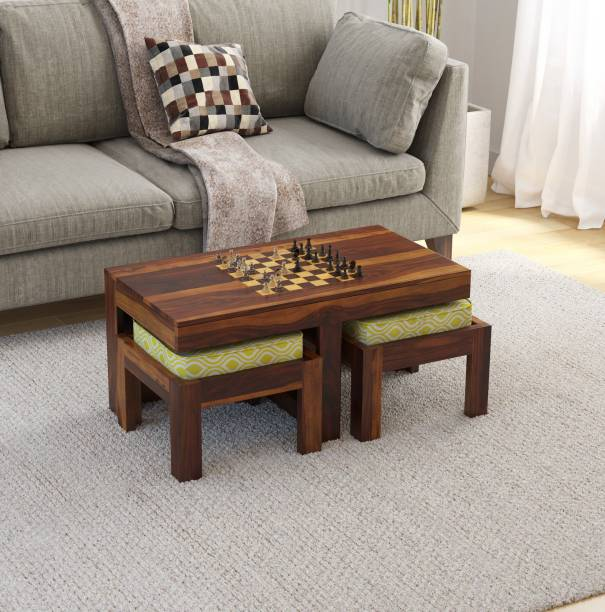 Induscraft Chess with Pawns Solid Wood Coffee Table