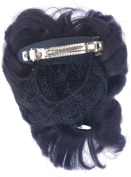 Fashion Factory Beautiful Juda Pin Back pin for Women Set of 1 Hair Accessory Set (Black) Back Pin