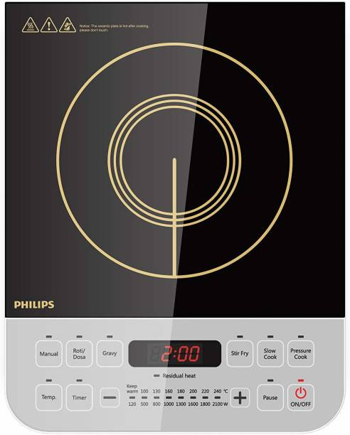 PHILIPS Viva Collection HD4928/01 2100-Watt Induction Cooktop Induction Cooktop