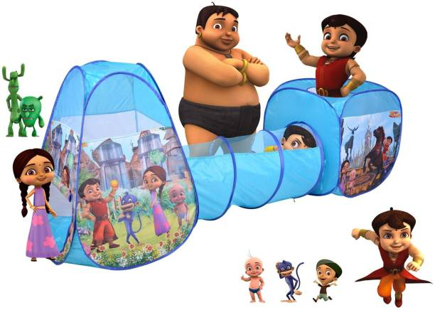 CHHOTA BHEEM 3 in 1 Super Bheem Combo of Crawling Tunnel & Play Tents For Kids